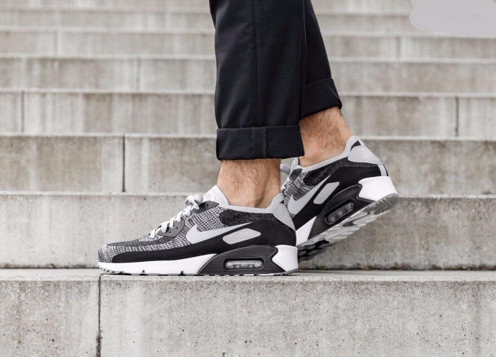 Nike air max 90 ultra - 2,0 flyknit Uomo bianco nero oreo 875943-005 Uomo flyknit sz 10 50974f
