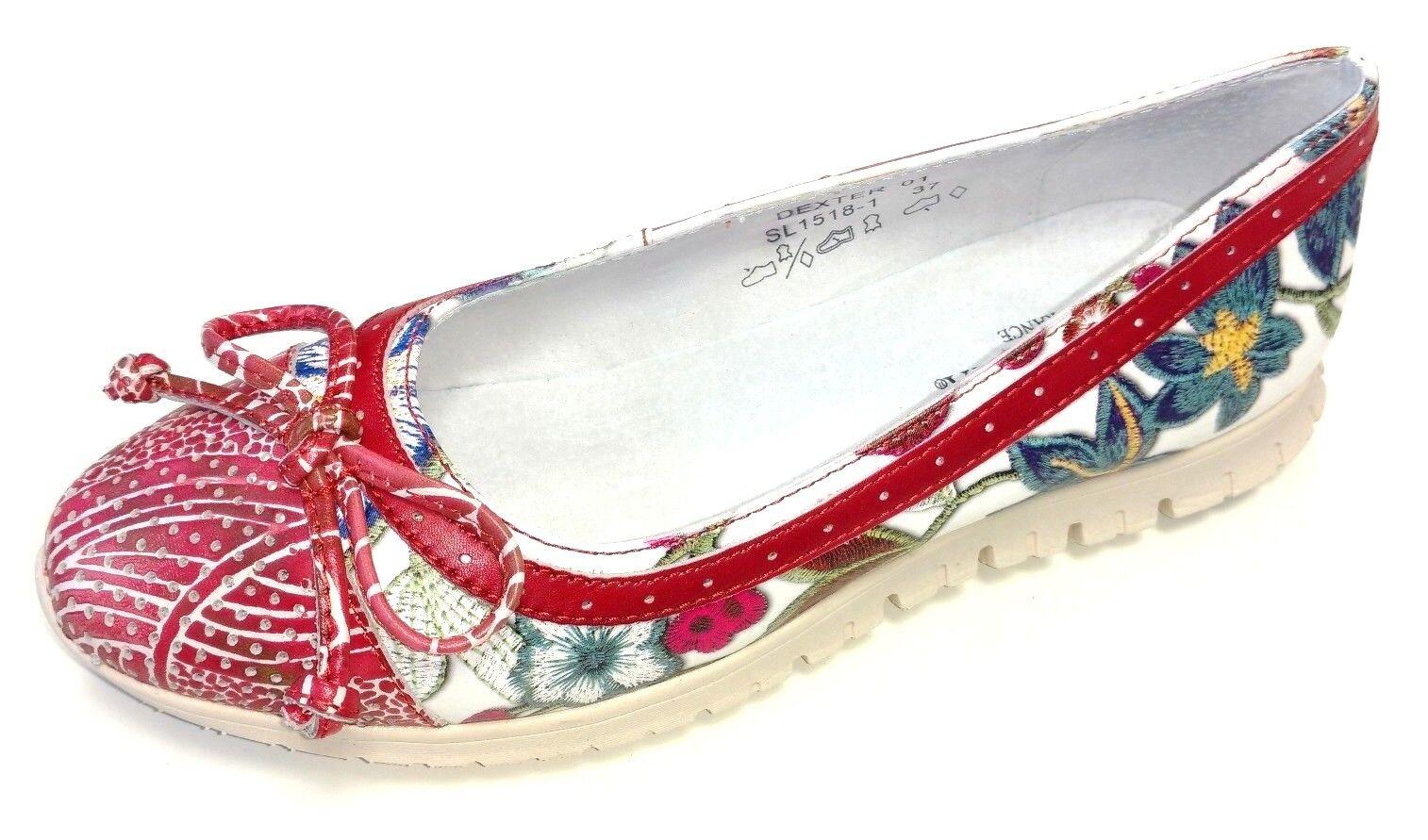 Laura Vita Damen Schuhe Slipper Halbschuh Ballerina Dexter 01 01 01 SL1518-1 rot a97b09