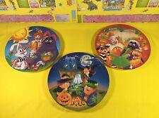 3 Vintage McDonalds Plates Easter Halloween Christmas Ronald Grimace Nuggets New