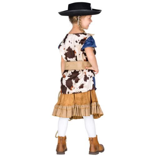 Mädchenkostüm Cowgirl Cowboy Sheriff Western Wilder Westen Fasching Karneval