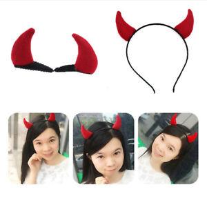 Devil-Horns-Red-Halloween-Horror-Evil-Headband-Fancy-Costume-Accessory-Kid-Decor