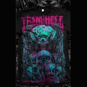 Team-Hell-Bat-Men-039-s-T-Shirt-tattoo-punk-Iron-Fist-Godmachine-tattoo