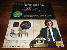 BECK - PUBLICITE / ADVERT GUERO !!!!!!!!!