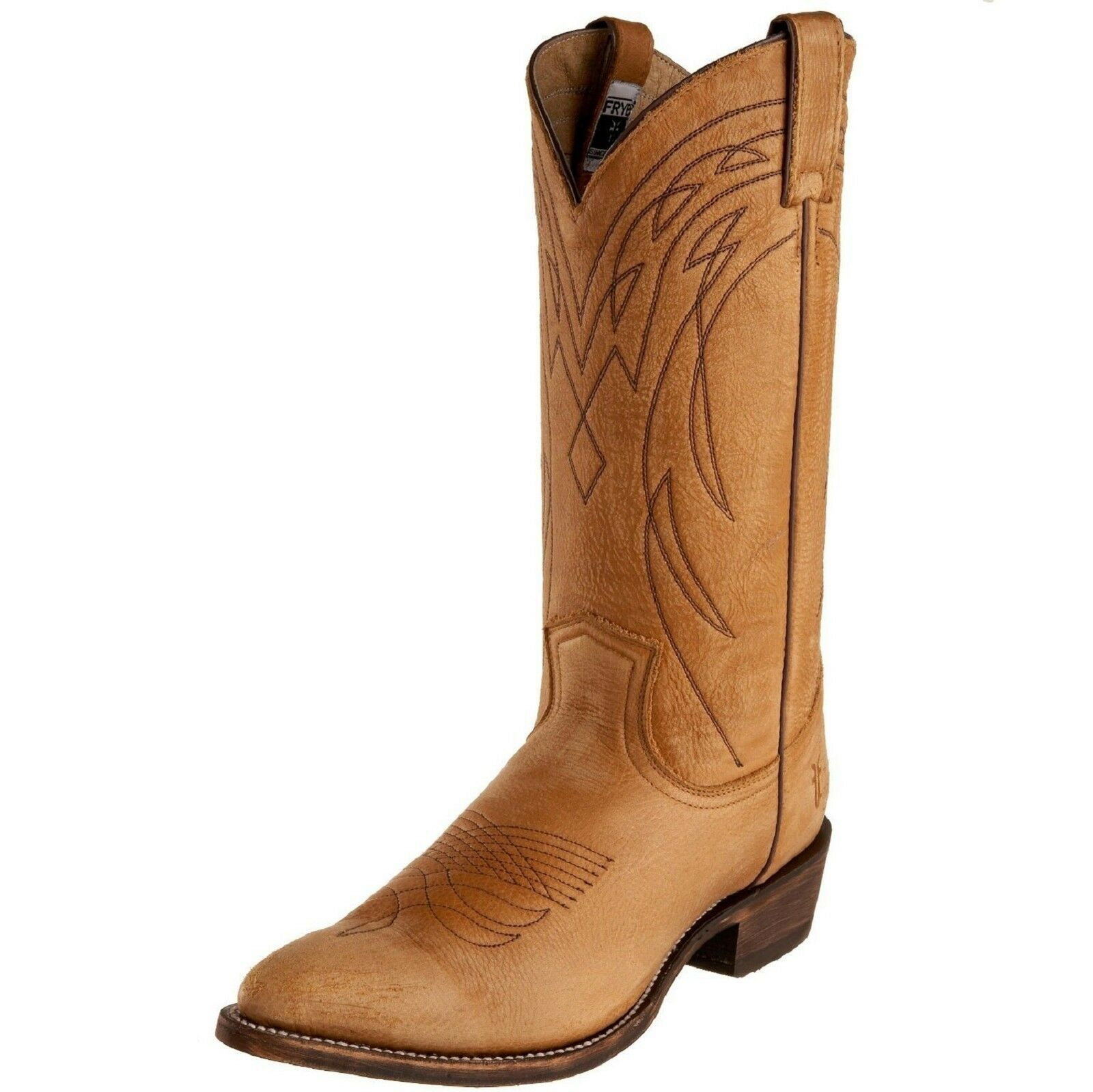 Frye BILLY TALL Cowboy Western Leather Boots  77800 Light Tan 6 Women Knee New