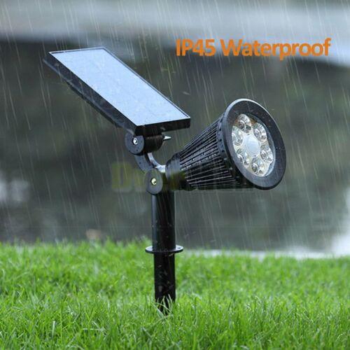 2//4x 6LED Solar Spotlight Garden Lawn Lamp Landscape Lights Outdoor Waterproof
