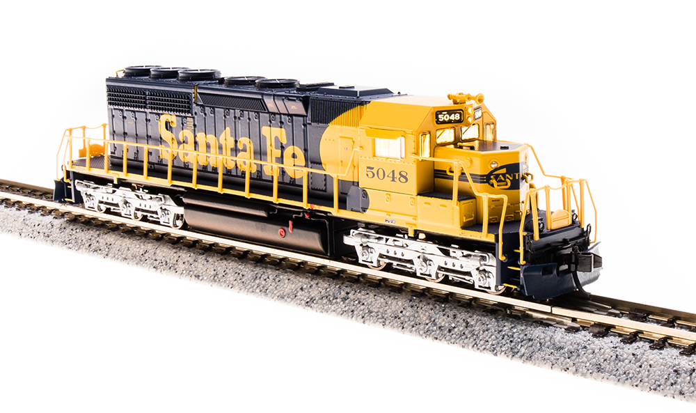 N Scale EMD SD40-2 Locomotive w DCC & Sound - Santa Fe  5048 - BLI  3701