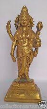"Lord Dhanvantari for Ayurveda Healing  Avatar God Vishnu Hindu Brass Statue 8.5"""