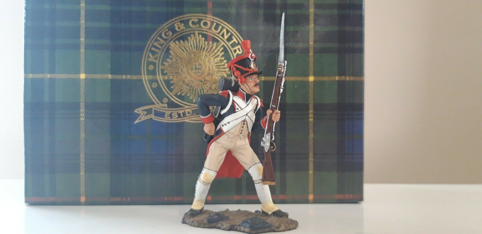 King and country Waterloo Napoleonic French guards guards infantry boxed 1 30  nn