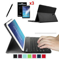 Samsung Galaxy Tab Tablet Leather Case Cover With Wireless Bluetooth Keyboard