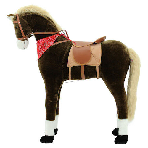 Sweety Toys 3501 GIANT XXL Riesen Pferd Plüschpferd Chocolate Stehpferd