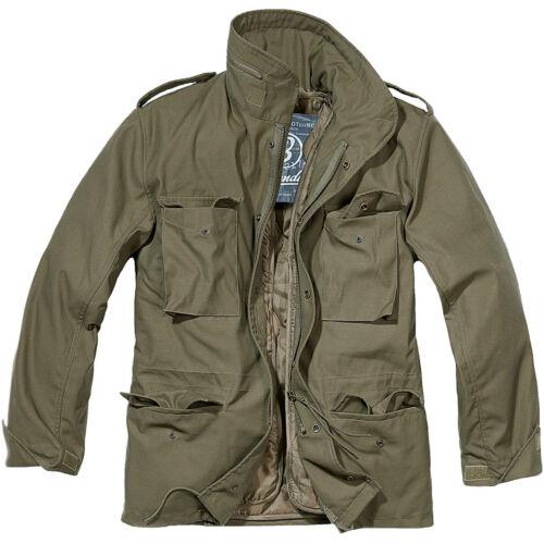BRANDIT CLASSIC M65 MENS ARMY FIELD JACKET WARM TRAVEL PARKA MILITARY COAT OLIVE