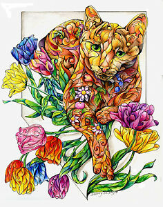 Spring-Cat-with-Tulips-8X10-CAT-Print-from-Artist-Sherry-Shipley