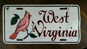 West-Virginia-License-Plate-Cardinal-Bird-Man-Cave-Vanity-W-VA-Football-Mounties