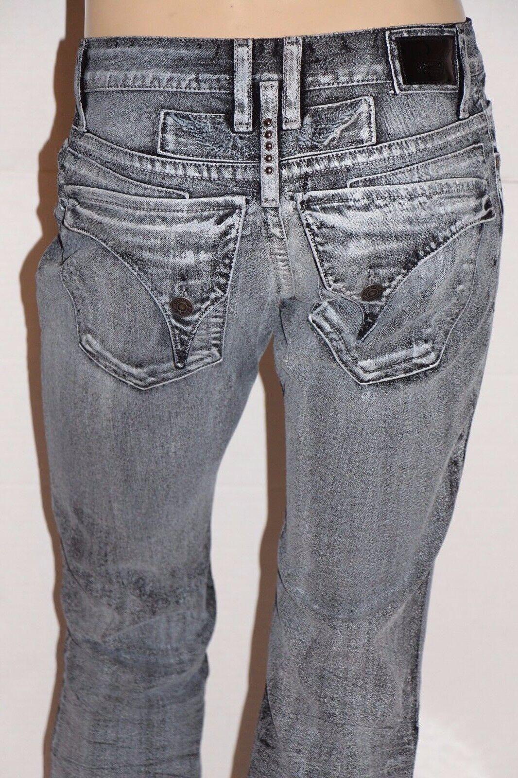 Neu Herren ROTKEHLCHEN Jeans Sz 32 Lang Überschlag Gewachst Dehnbar Denim Gerade