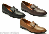 Mens Slip-on Loafers Shoes Formal Evening Wedding Leather Shoes Size Sole Buckle