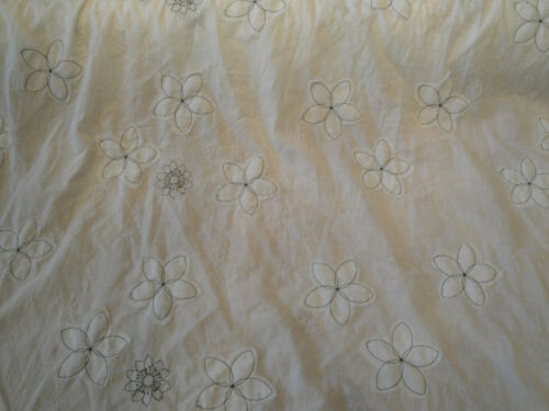 Embroideredl Pure Cotton Voile