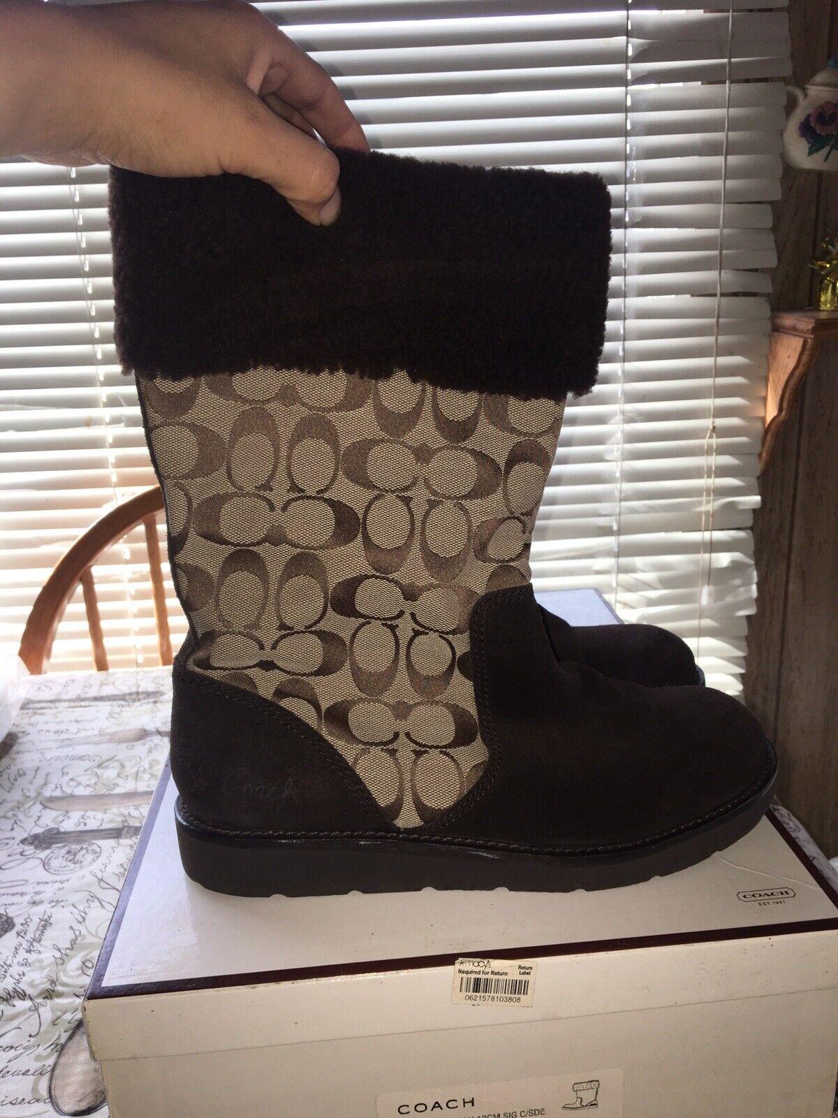 Para mujer botas entrenador Kally, Tamaño  9.5 M, Color marrón