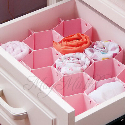 Honeycomb Drawer Clapboard Partition Closet Divider Cabinet Storage Organizer SI
