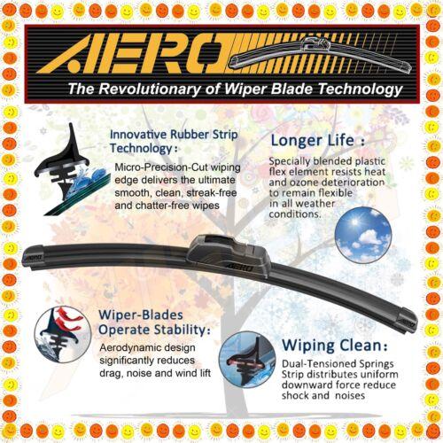 """AERO 13/"""" 13/"""" PREMIUM QUALITY SUMMER WINTER BRACKETLESS WINDSHIELD WIPER BLADES"""