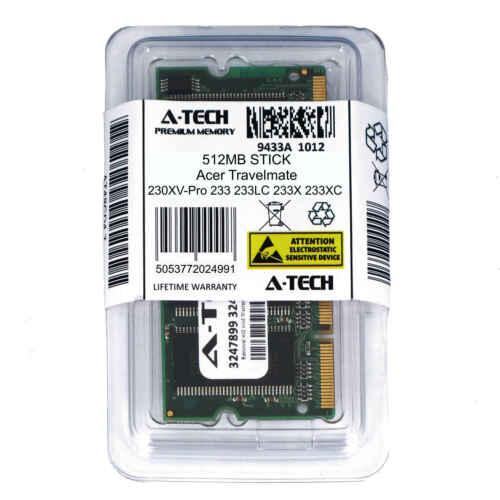 512MB SODIMM Acer Travelmate 230XV-Pro 233 233LC 233X 233XC 233XV Ram Memory