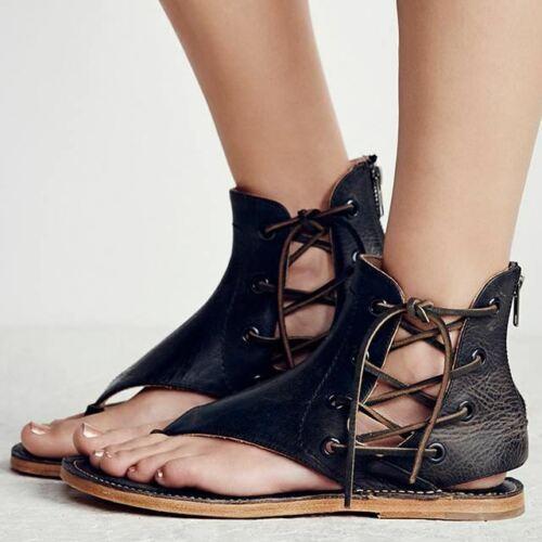 Femmes Sandales Vintage Summer femmes Chaussures Gladiateur Sandales Tongs pour femmes