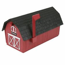 #1 1/2 Red Barn Mailbox ~ Poly Mail Box ~ New!