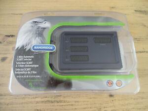 Bandridge Premium Performance 3 Way Automatic SCART Selector SVB 7733 Retro Game