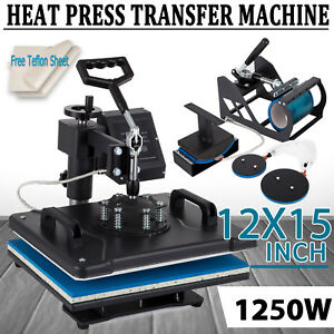 5-in-1-Heat-Press-Machine-Swing-Away-Digital-Sublimation-T-shirt-Mug-Plate-Hat