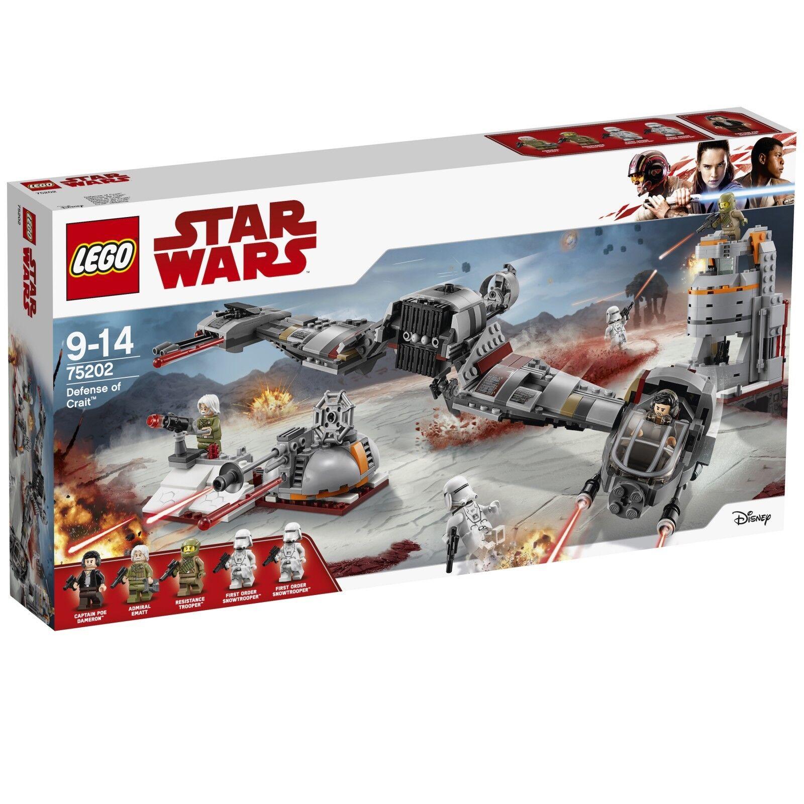 LEGO ® Star Wars ™ 75202 Defense of CRAIT ™ Nouveau neuf dans sa boîte NEW En parfait état, dans sa boîte scellée Boîte d'origine jamais ouverte