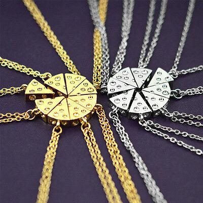 Cheese Slice Statement Friendship Necklace Pendant Best Friends Fashion Jewelry