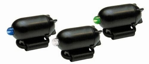 Zebco Fishing Rod Tip Morsure Indicateur Lumière Set 3 pcs rouge vert bleu avec batterie