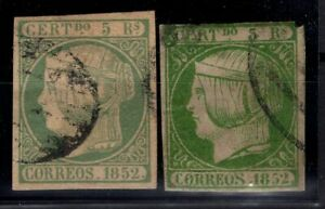 P130448-SPAIN-STAMP-Y-amp-T-15-2-VARIOUS-SHADES-USED-CV-300