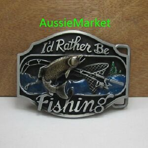 1 x mens belt buckle metal jeans fish fishing rod boat net for Fish hook belt