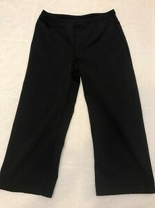Womens Ativa Pants Compression Small Black Capri Running Yoga S