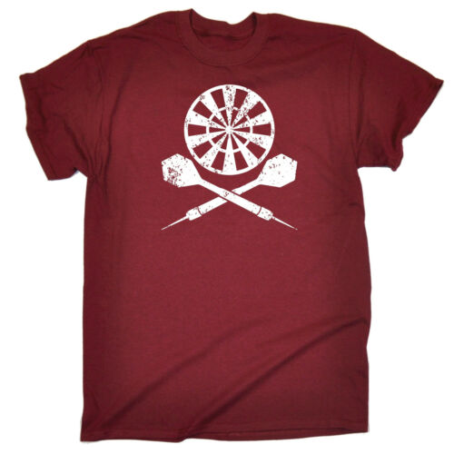 Dart Board Cross T-shirt Fléchettes Arrows Crossbones Player Funny Birthday Poison