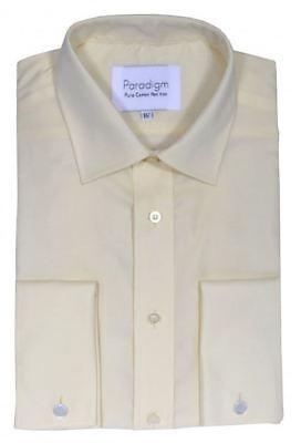 Making Things Convenient For The People Paradigm Uomo Doppio Polsino Puro Cotone Non Stirabile Formale Camicie 8501