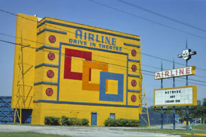 Airline Drive In Movie Theater Houston Tx Texas 1977 View 8x12 Photo Ebay