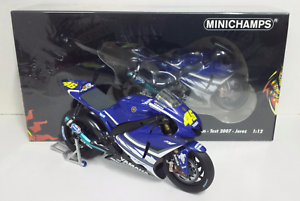 MINICHAMPS-VALENTINO-ROSSI-1-12-YAMAHA-M1-MOTOGP-TEST-JEREZ-2007-L-E-1007-NEW