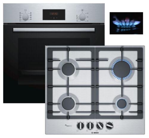 GAZ Herdset Bosch autosuffisantes installation Four 3d Air Chaud gaz plaque de cuisson en acier inoxydable