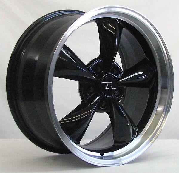 18 Black W Lip Deep Dish Mustang Bullitt Wheels 18x9 5x114 3 18