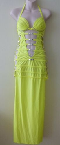 NWT Ooh La La London Strappy Sequin Long Gown Pole Dancer Stripper Pageant Dress