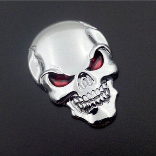 Auto Car Decor 3D Metal Skull Bone Emblem Badge Decal Sticker Motorcycle Orament