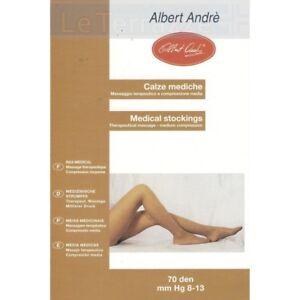 colori e suggestivi orologio vendita a buon mercato nel Regno Unito Dettagli su Albert Andrè collant 70 den calze mediche massaggio terapeutico  mm Hg 8-13 Alber