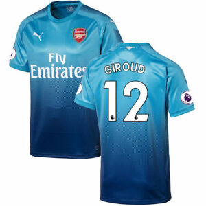 ca87f9960 Details about Puma Arsenal FC 2017 - 2018 Giroud #12 Away Soccer Jersey  Atomic Blue / Black