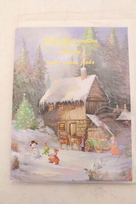 Weihnachtskarte mit Musik Glückwunschkarte Grußkarte Weihnachten Umschlag NOS
