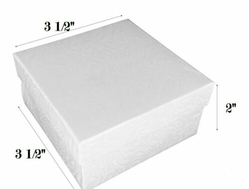 Available in many sizes and quantities. White Boxes with cotton filled inserts