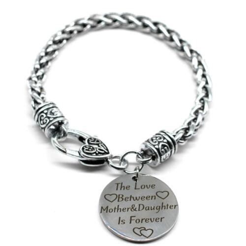 SB53 Braid Bracelet The Love Between Mother /& Daughter Is Forever