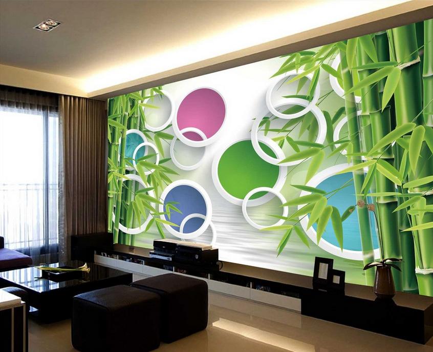 3D 3D 3D Bamboos Circles 84 Wall Paper Murals Wall Print Wall Wallpaper Mural AU Kyra cf1f26