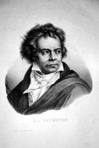 Ludwig Van Beethoven Composer Portrait 12x8 Inch Print
