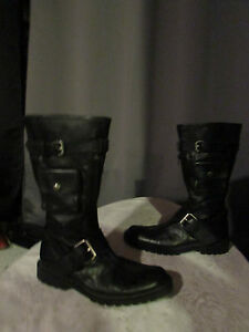 Accessory Black 37 Size Boots Leather gZgq6Y